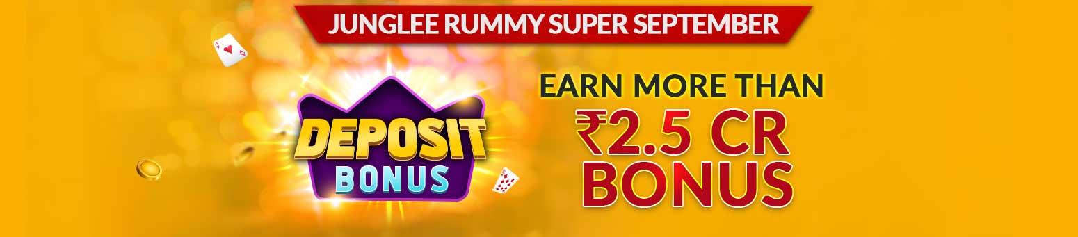 Junglee Rummy Deposit Bonus