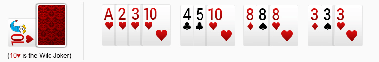 wrong rummy sequence