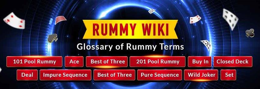Learn Rummy Terms - Rummy Glossary