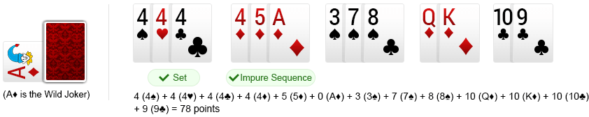 rummy card points