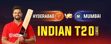 Hyderabad vs Mumbai Indian T20 League
