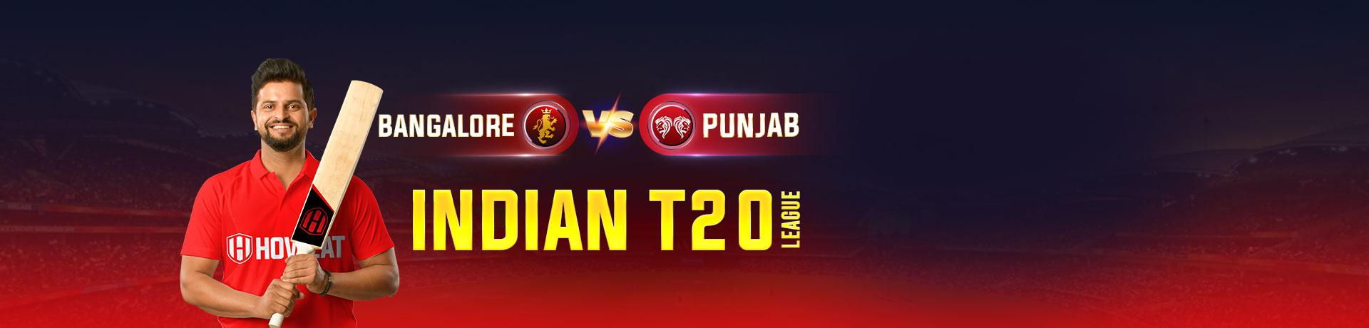Bangalore vs Punjab Indian T20 League