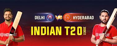 Delhi vs Hyderabad Indian T20 League