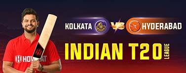 Kolkata vs Hyderabad  Indian T20 League