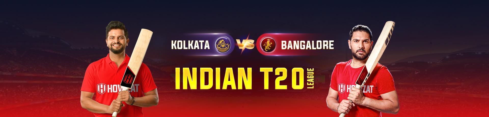Kolkata vs Bangalore Indian T20 League
