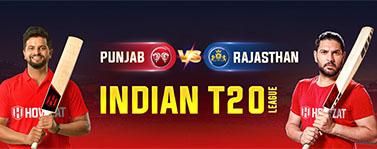 Punjab vs Rajasthan  Indian T20 League