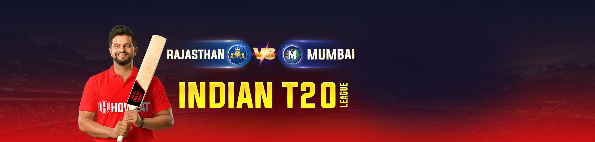 Rajasthan vs Mumbai Indian T20 League