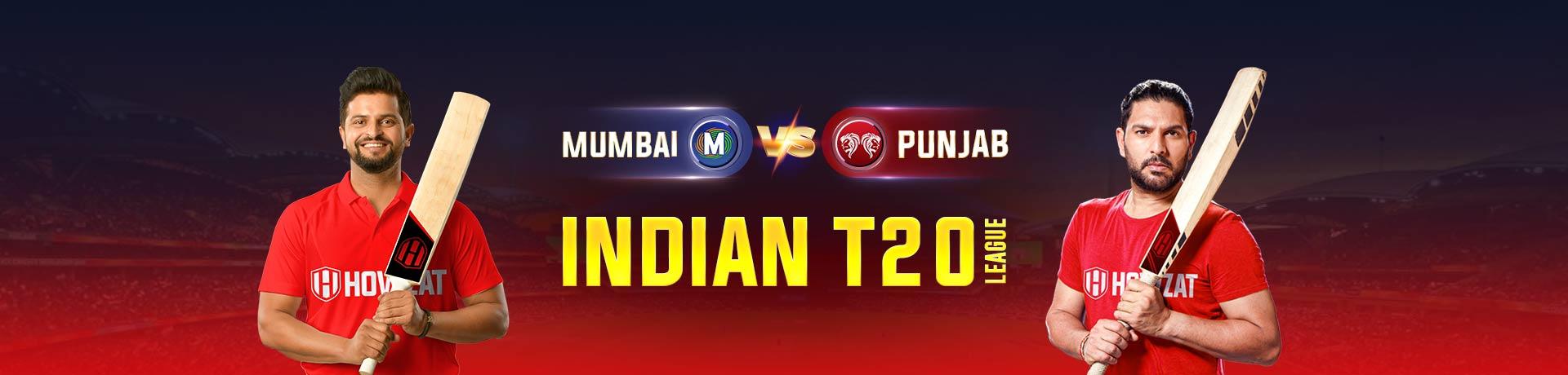 Mumbai vs Punjab Indian T20 League